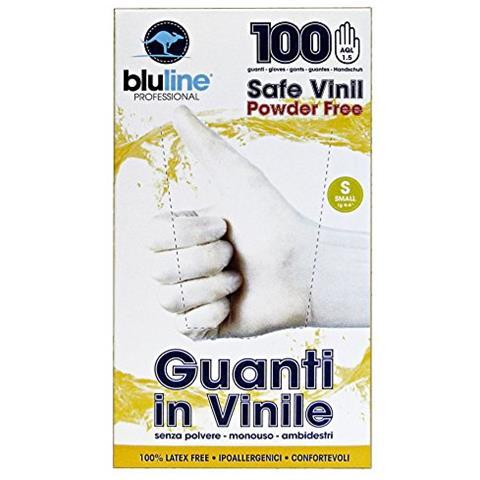 Bluline Guanti X 100 Vinile Bluline S Giardinaggio
