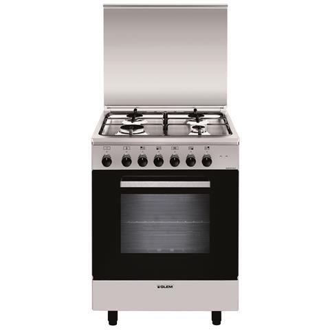Cucina Elettrica A664MI6 4 Fuochi Gas Forno Elettrico Classe A Dimensioni 60x60 Colore Ino...
