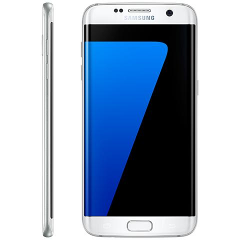 "SAMSUNG Galaxy S7 Edge Bianco 32 GB 4G/LTE Impermeabile Display 5.5"" Quad HD Slot Micro SD Fotocamera 12 Mpx Android Italia"