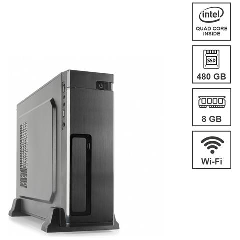 Image of Mini Pc Micro Assemblato Intel Celeron Quad j4125 Core 2.0 Ghz Ram 8 GB SSD 480 GB Wi-Fi 300 mbps Windows 10 PRO