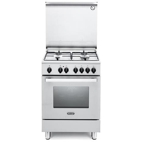 Cucina Elettrica DMW64ED 4 Fuochi a Gas Forno Elettrico Multifunzione Ventilato Classe A D...