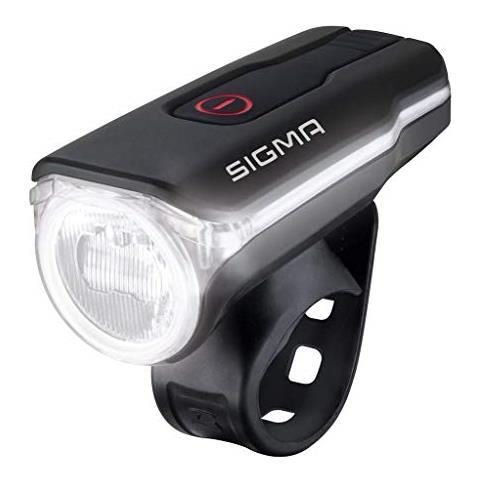 Sigma Sport Aura 60-luce Frontale Per Bicicletta, Usb, Nero, Taglia Unica Unisex