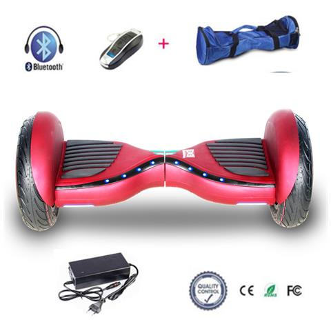 Image of 10 Hoverboard Con Front Flash Led Smart Balance Monopattino Elettrico Pedana Scooter Segway Rosso