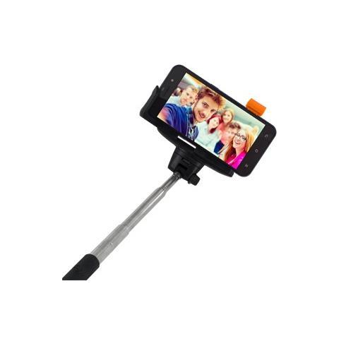 """ATLANTIS LAND Asta Telescopica da Selfie per Smartphone Fino a 5"""" Nero Metallico"""