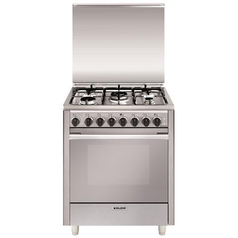 Glem gas cucina a gas u765mi6 5 fuochi gas forno elettrico classe a dimensioni 70x60 colore - Eprice cucine a gas ...