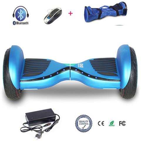 Image of 10 Hoverboard Con Front Flash Led Smart Balance Monopattino Elettrico Pedana Scooter Segway Blu