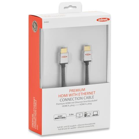 EDNET 84483, 5m, HDMI, HDMI