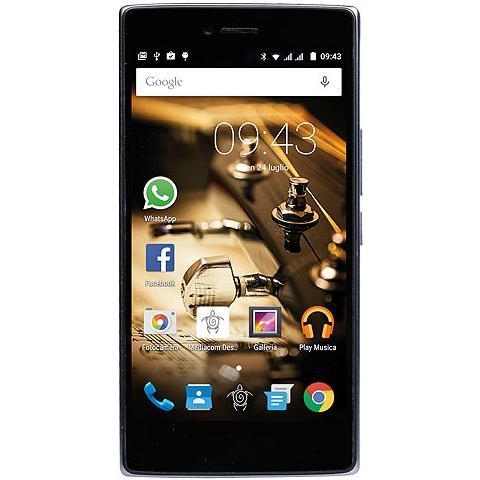 "MEDIACOM PhonePad Duo X530U Argento 16 GB 4G/LTE Dual Sim Display 5"" HD Slot Micro SD Fotocamera 13 Mpx Android Italia"