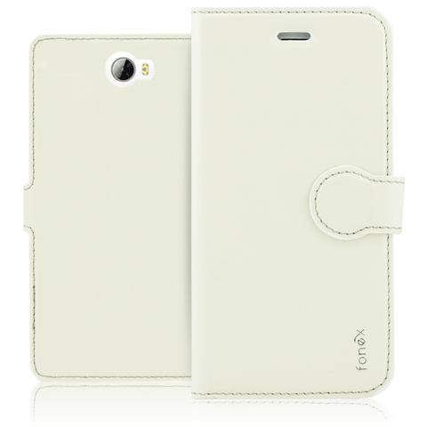 FONEX Identity Book Custodia a Libro per Huawei Y6 II Colore Bianco