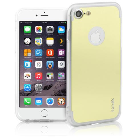 FONEX Vanity Cover in Morbido TPU con Retro a Specchio per Apple iPhone 7 Colore Trasparente / Oro