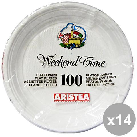 Aristea Set 14 Piani X 100 Pezzi Piatti