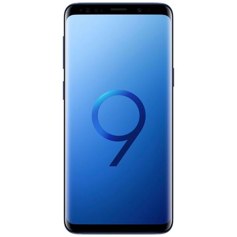 "SAMSUNG Galaxy S9 Blu 64 GB 4G / LTE Dual Sim Impermeabile Display 5.8"" Quad HD Slot Micro SD Fotocamera 12 Mpx Android Europa"