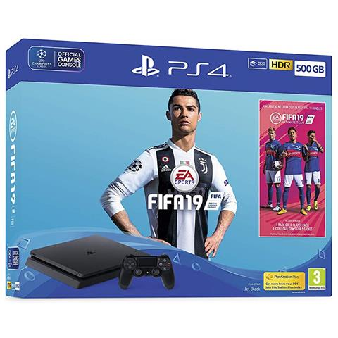 Image of Console Playstation 4 500 GB Slim + FIFA 19
