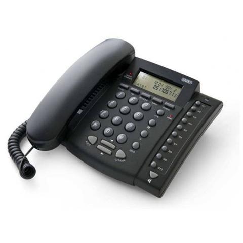 SAIET Telefono Multifunzione con Vivavoce e identificatore Chiamante colore Nero