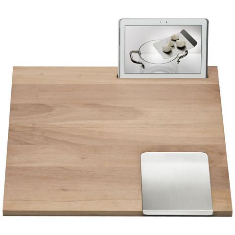 Tagliere in Noce Canaletto Workstation W1 Dimensioni 55x60x2 cm