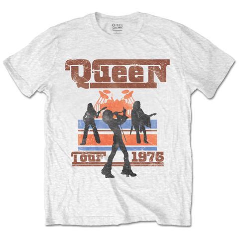 ROCK OFF Queen - 1976 Tour Silhouettes White (T-Shirt Unisex Tg. XL)