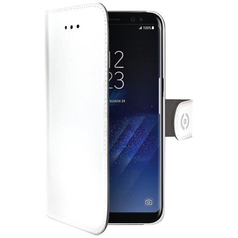 CELLY Custodia a Portafoglio per Samsung Galaxy S8+ Colore Bianco