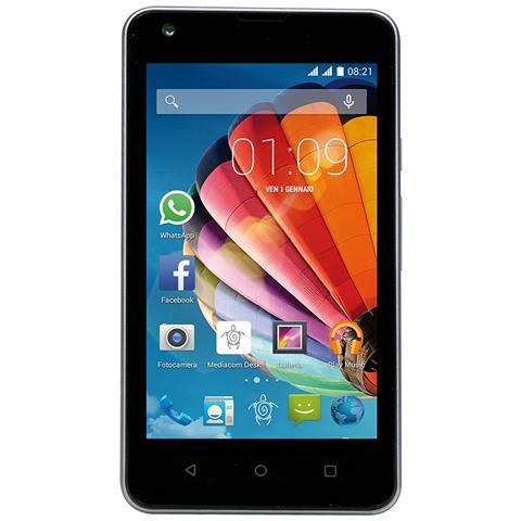"MEDIACOM PhonePad Duo G415 Argento 4 GB Dual Sim Display 4"" Slot Micro SD Android Italia"