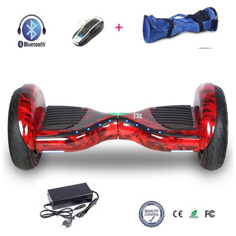 Image of 10 Hoverboard Con Front Flash Led Smart Balance Monopattino Elettrico Pedana Scooter Segway Fire