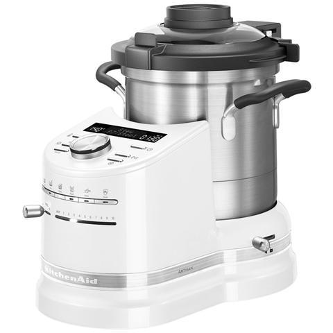 Cook Processor Artisan Robot da Cucina Potenza 1500 Watt Capacità 4.5 Litri 5KCF0103EFP Colore Perla