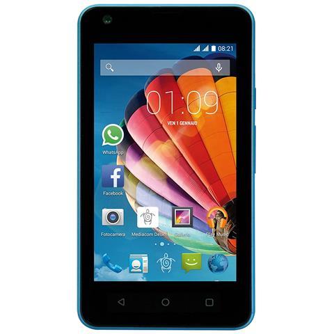 "MEDIACOM PhonePad Duo G415 Blu 4 GB Dual Sim Display 4"" Slot Micro SD Android Italia"