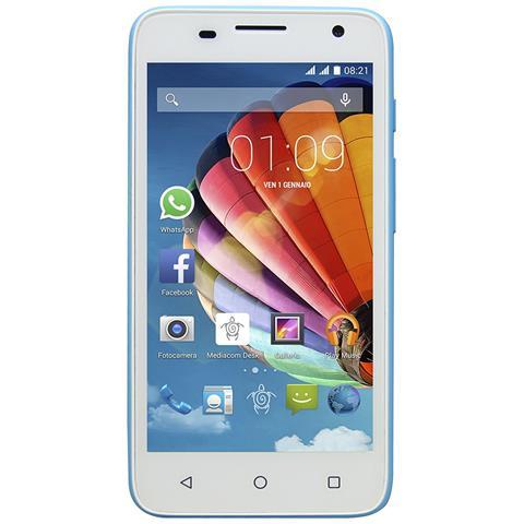 "MEDIACOM PhonePad Duo G450 Blu 4 GB Dual Sim Display 4.5"" Slot Micro SD Fotocamera 5 Mpx Android Italia"