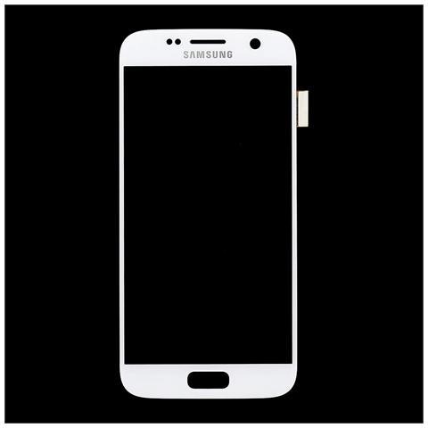 Image of Lcd Touch Display Schermo Bianco Originale Samsung Per Galaxy S7 Sm-g930 + Kit