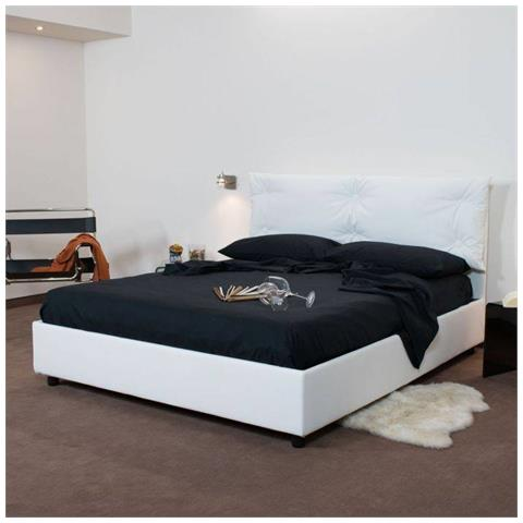Itamoby - Letto singolo Alberta in similpelle Made in Italy - Bianco ...