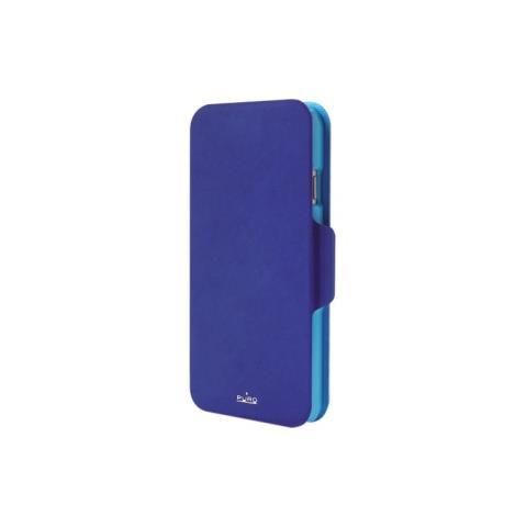 PURO Booklet Bicolor Flip Cover per iPhone 6 Plus - Blu e Azzurro