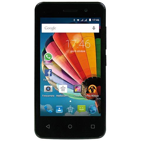 "MEDIACOM PhonePad Duo G410 Gold Dual Sim Display 4"" IPS Quad Core Storage 4GB +Slot WiFi Bluetooth 3G Fotocamera 5Mpx Android 5.1- Italia"