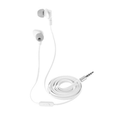 TRUST URBAN Aurus auricolare in-ear impermeabili con cavo piatto antigroviglio, ideale per gli sport all'aperto - white
