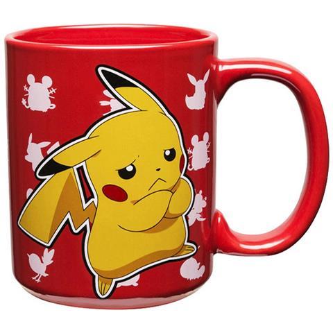 Pikachu Tazza Rossa Ufficiale In Ceramica (426 Ml) (multicolore)