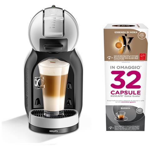 KP 123BKP Mini Me Nescafé Dolce Gusto Macchina del Caffè e Altre Bevande a Capsule Capacità 0.8 Litri Potenza 1500 Watt Grigio Artico / Nero + 32 capsule