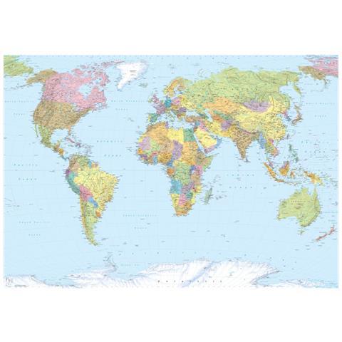 Fotomurale World Map Xxl 368x248 Cm Xxl4-038