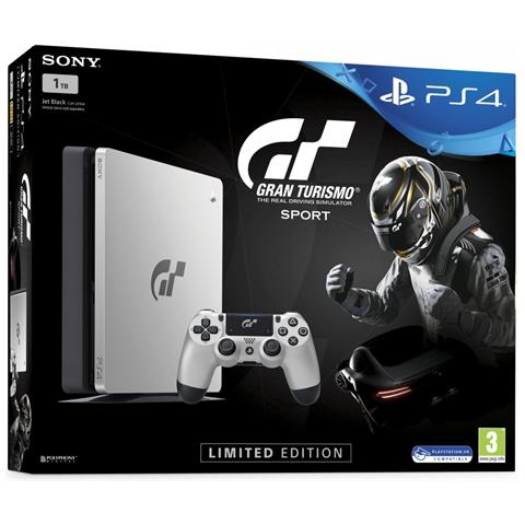 Image of Console Playstation 4 PS4 1 Tb Slim Silver + Gran Turismo SPORT GT Sport Special Bundle