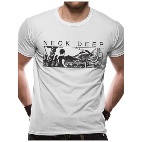 CID Neck Deep - Manga (T-Shirt Unisex Tg. 2Xl)