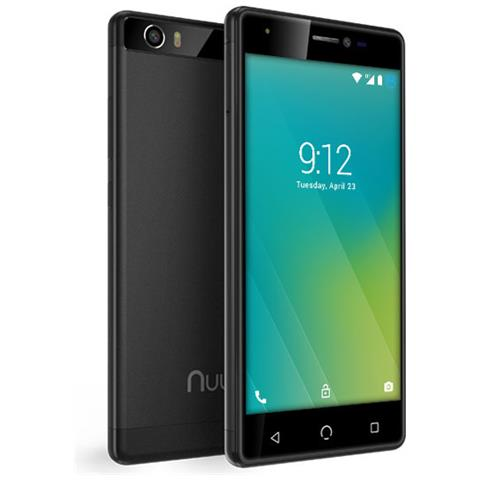 "NUU MOBILE M2 Nero 16 GB 4G / LTE Dual Sim Display 5"" HD Slot Micro SD Fotocamera 8 Mpx Android Italia"
