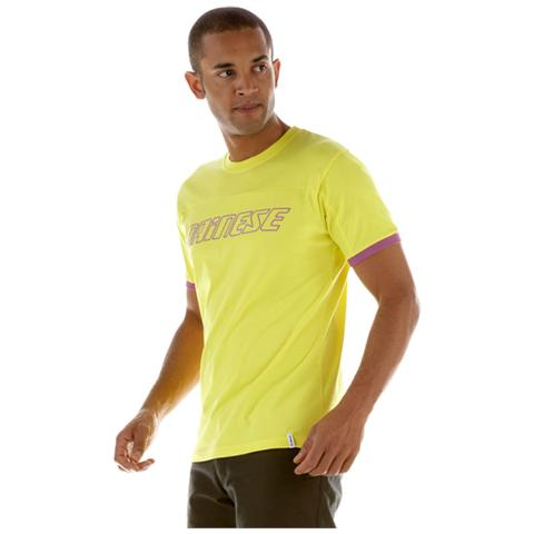 DAINESE T-Shirt Color S / S XL GIALLO VIOLA