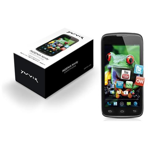 "YARVIK Ingenia Nero 4 GB Dual Sim Display 4"" Slot Micro SD Fotocamera 5 Mpx Android Italia"