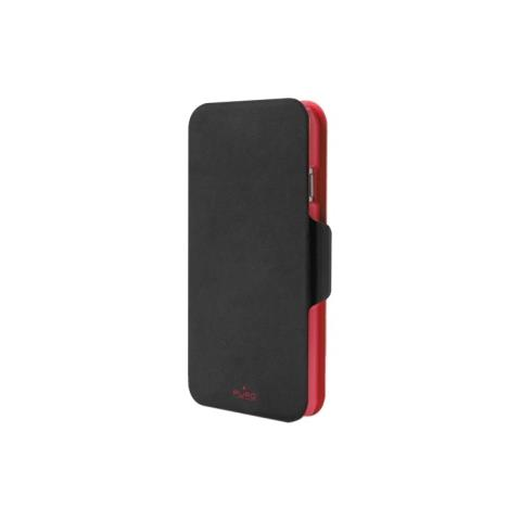 PURO Booklet Bicolor Flip Cover per iPhone 6 - Nero e Rosso
