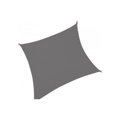 Tenda Parasole Quadrata 3x3 Metri Grigio Antracite