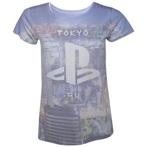 BIOWORLD Sony - Playstation Sublimation Print (T-Shirt Donna Tg. L)