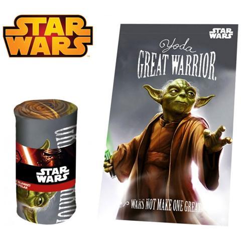 Star Wars Sw92243 Coperta In Caldo E Morbido Pile Yoda 100x150 Cm Plaid