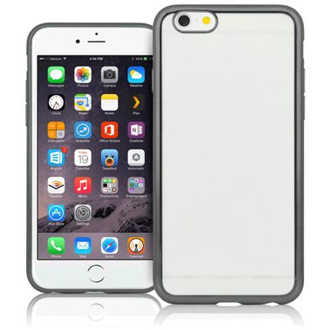 FONEX Cover Sparkling in TPU per iPhone 7 - Trasparente / Nero