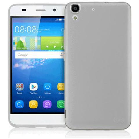 FONEX Inv Cover Ultra Sottile 0,2 mm in Morbido TPU per Huawei Y6 Colore Nero Trasparente