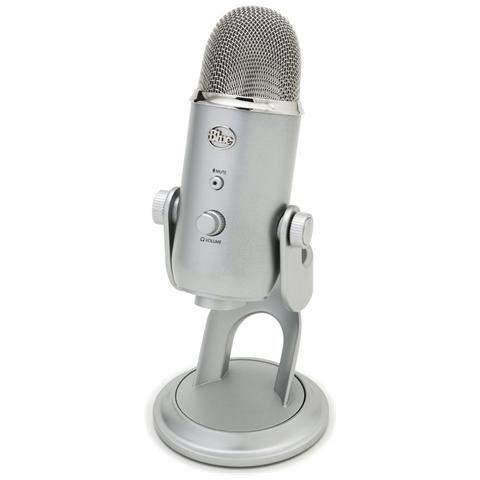 BLUE MICROPHONES Yeti Microfono Provessionale USB per Windows / Mac Grigio