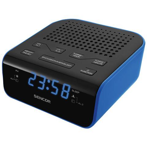 SENCOR SRC 136 BU, AA, Orologio, LED, Digitale, FM, PLL, Blu