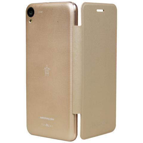 MEDIACOM Custodia Flip per PhonePad Duo S470 Oro