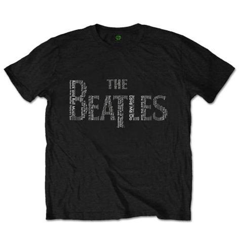 ROCK OFF Beatles (The) - Drop T Songs Black (T-Shirt Unisex Tg. L)