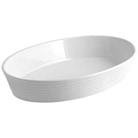 HOME Pirofila Porcellana Ovale 35x23 Accessori Da Cucina